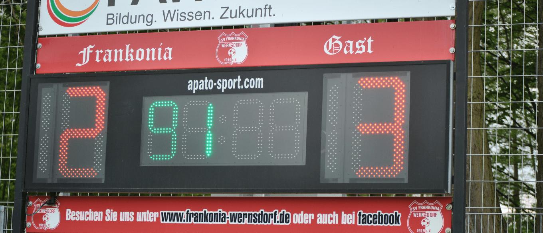 Frankonia Wernsdorf II – Petkuser SV 2:3